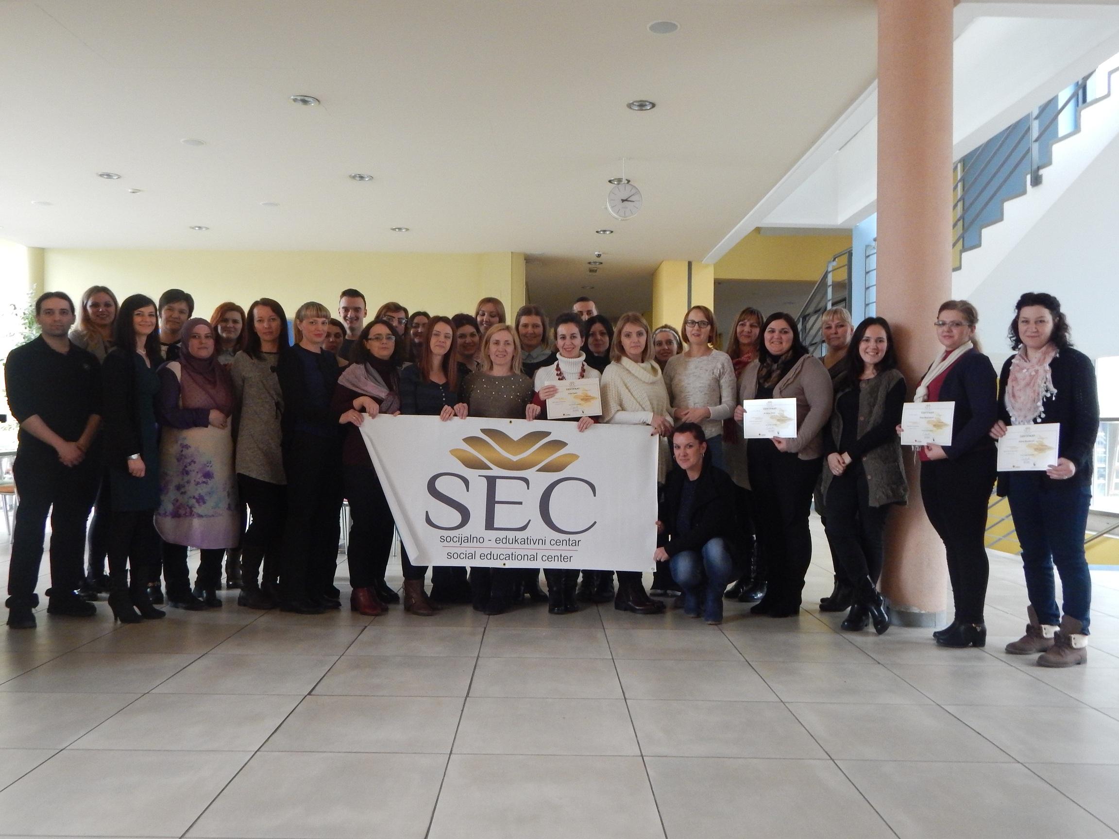 SEC Travnik nastavlja s provedbom obuke za asistente u nastavi