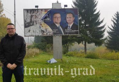 Unišen promidžbeni jumbo plakat Koalicije HDZ BIH – HSS Stjepan Radić